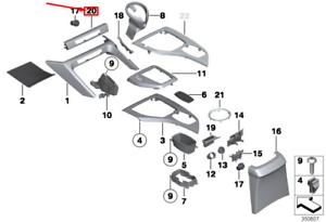 BMW-X1-E84-Console-Centrale-Interrupteur-Unite-Housse-51169252864-Neuf-Original