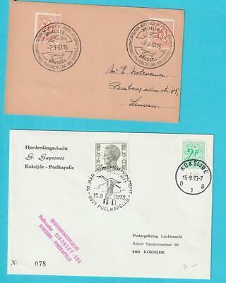 Hell Belgien Lot Helikopterpost 6 Briefe/karten Sonderst. Tagesst. Schiffst. 7.9.1957 Neueste Mode