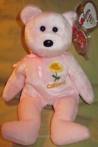 Ty CALIFORNIA POPPY Beanie Baby Bear Exclusive w/ KNOTT'S BERRY FARM Tag - Mint