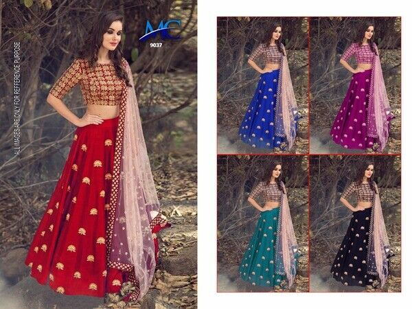 Bollywood Indian Desginer Fancy Lehenga Choli Embroidery Work  Lehenga Choli