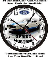 1972 Ford Mustang Sprint Wall Clock-free Usa Ship