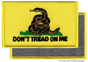 DONT-TREAD-ON-ME-GADSDEN-FLAG-PATCH-AMERICAN-YELLOW-w-VELCRO-Brand-Fastener