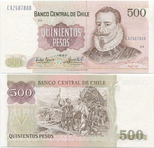 Chile 500 Pesos 1990 P-153b UNC
