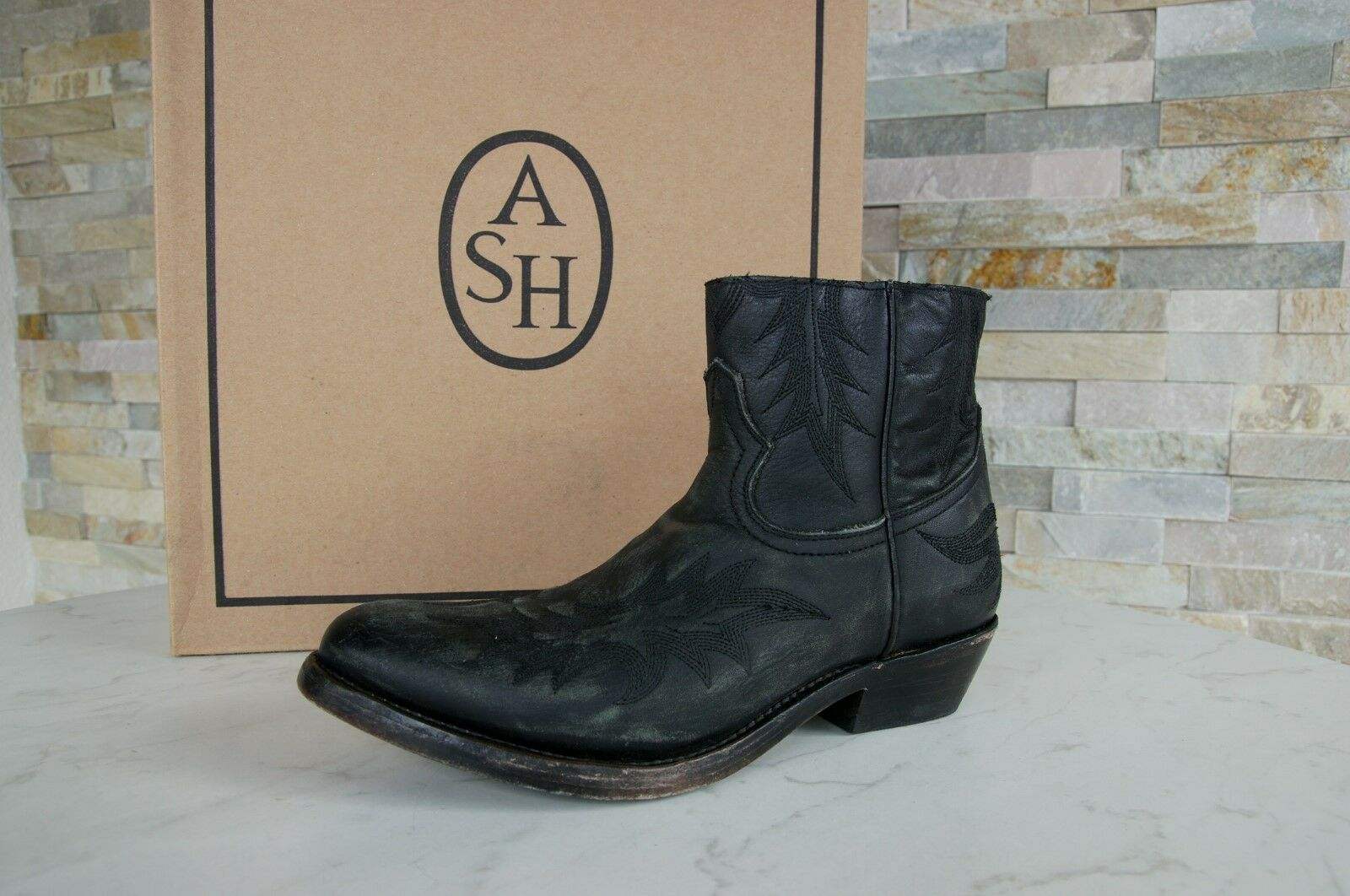 Ash Size 36 Boots Shoes Ankle Boots Vintage Country Kurty Black NEW
