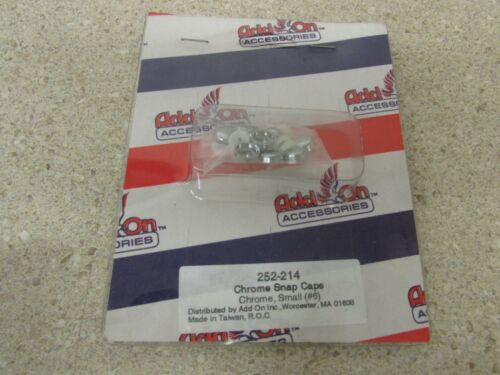 NEW ADD-ON ACCESSORIES #6 SCREW CHROME DECORATIVE SNAP CAPS 10 PK 252-214