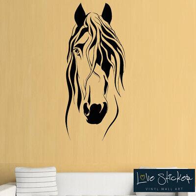Wall Stickers Horse Head Pony Girls Art Decals Vinyl Decor Home Mural Room