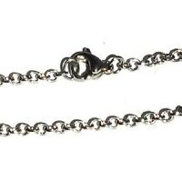Stainless Steel 24 Inch 2mm Link Neck Chain Necklace
