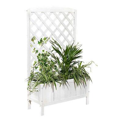 Blumenkasten Weiß Rankkasten Rankgitter Blumenständer Rankhilfe Blumenkübel Holz