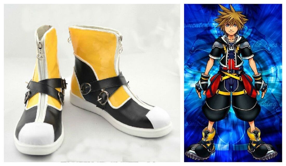 Kingdom Hearts II 2 1st Version Sora Cosplay Costume Boots Shoes