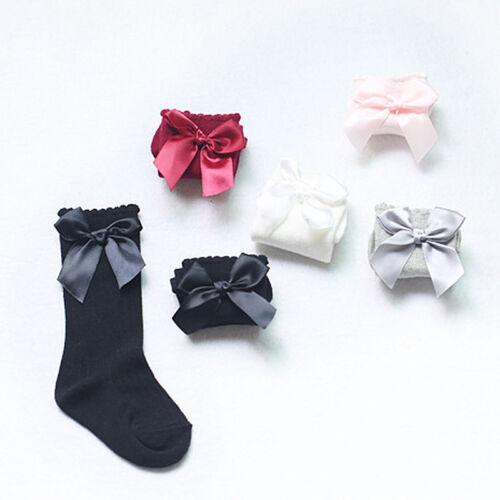 Baby Mädchen Socken Kniestrümpfe mit Prinzessin Bowknot Lange Socken