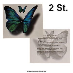 2 X Schmetterling Tattoo Butterfly Tattoo 3d Einmal Tattoo