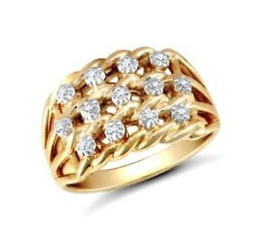 9ct-Gold-3-Row-Keeper-Ring-Set-with-Diamonds-UK-Jewellers