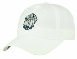 GEORGETOWN HOYAS NCAA CREW WHITE STAPLE RELAXED STRAPBACK TOW DAD CAP HAT NWT!