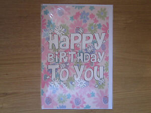 Sealed Happy Birthday Greeting Card Flower Hippy Boho Design 110 - Hailsham, United Kingdom - Sealed Happy Birthday Greeting Card Flower Hippy Boho Design 110 - Hailsham, United Kingdom