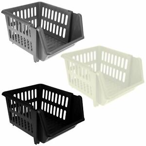 3-Tier-Plastic-Stacking-Basket-Set-Kitchen-Office-Storage-Rack-Stackable-Boxes