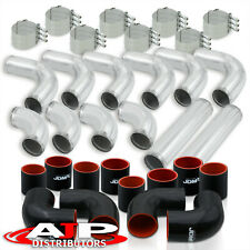 12pcs Universal 3 Intercooler Piping Kit With T Bolt Clamps Blk Silicone Coupler