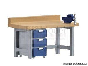 KIBRI-38675-Banco-da-lavoro-scala-H0-montato-e-verniciato