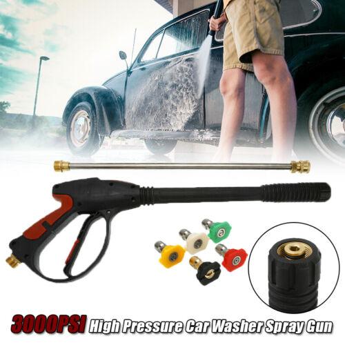 3000PSI High Pressure Car Washer Power Spray Gun Wand//Lance Hose Nozzle Set New