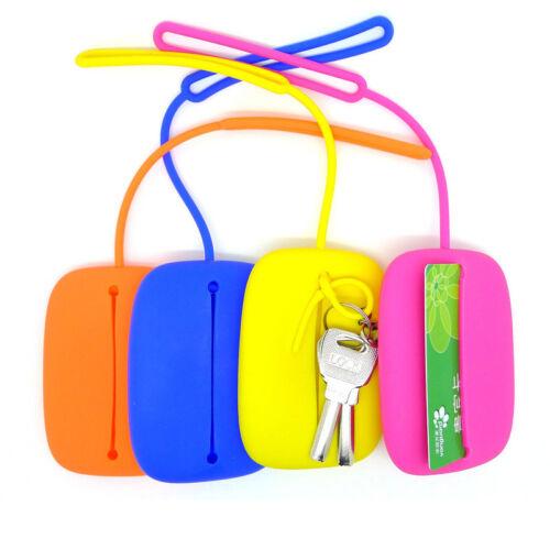 Porte-clés Hasp Style Silicone Pochette Carte étui Sac Cadeau Key Holder HT
