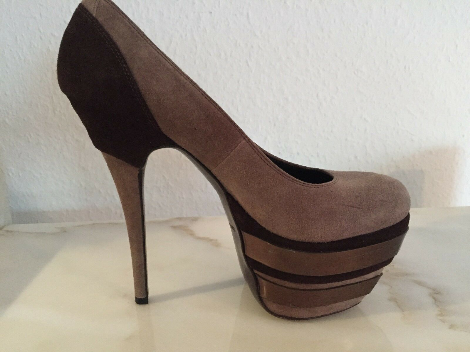 Gianmarco Lorenzi Damen Plateau High Heels Pumps in Größe 36,5