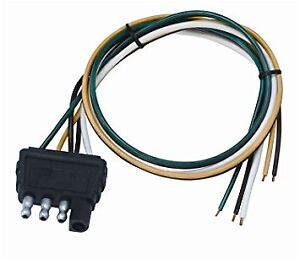 marine wiring harness connectors wesbar 707286 boat/utility trailer 4-way flat wire harness ...