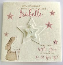 Item 3 Personalised Watercolour Bunny 1st Birthday Card Daughter Granddaughter 2nd