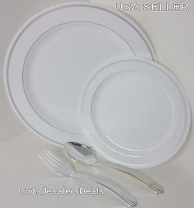Image is loading 88-pc-Reflective-Premium-Plastic-Plates-China-Look- : premium plastic dinnerware - pezcame.com