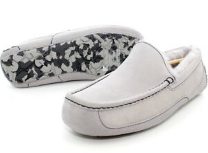 4380dda27a1 Details about UGG MENS ASCOT GREY MARBLE BOTTOM SUEDE SLIPPER SHOE SIZE 11  US RARE COLOR