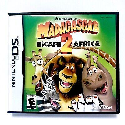 Nintendo Ds Madagascar Escape 2 Africa Video Game Complete Instructions Ebay