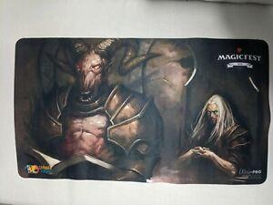 Demonic Tutor Play Mat signed by Douglas Shuler MTG Magic the Gathering CCG