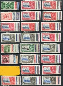 1935-Silver-Jubilee-Omnibus-set-249-MH-mounted-mint-stamps-excluding-Egypt-1p