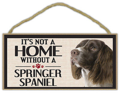 Gifts It/'s Not A Home Without A BRITTANY SPANIELDogs Decorations Wood Sign