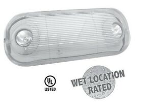 Emergency exit light ul listed for wet outdoor locations quantity 2 new ebay for Exterior emergency exit lights