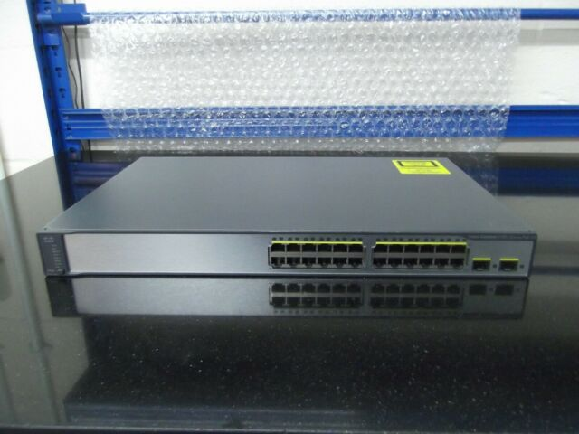 Cisco Catalyseur WS-C3750V2-24PS-S 24 Port Commutateur Poe Ios 15