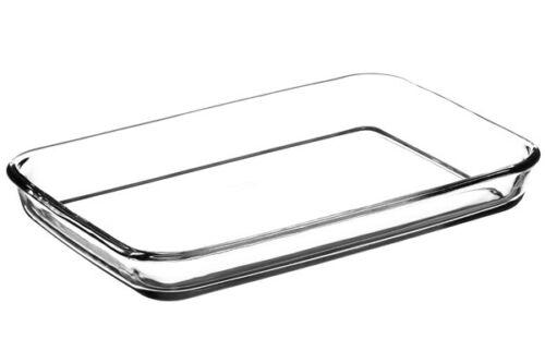 Borcam 59004 Rechteckige Schale Kare Glasauflaufform Backform