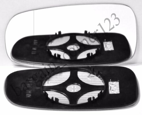 Left Passenger Side Wing Mirror Glass WIDE ANGLE HEATED Saab 9-3 2003-2010