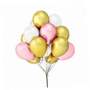 25-4cm-dore-rose-et-blanc-ST-VALENTIN-Ballons-helium-air-Qualite-Fete-Deco
