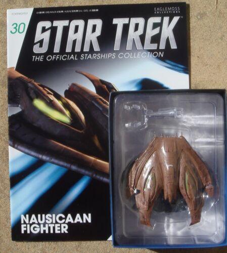 Eaglemoss Diecast Star Trek Nausicaan Fighter EM-ST0030 with Magazine