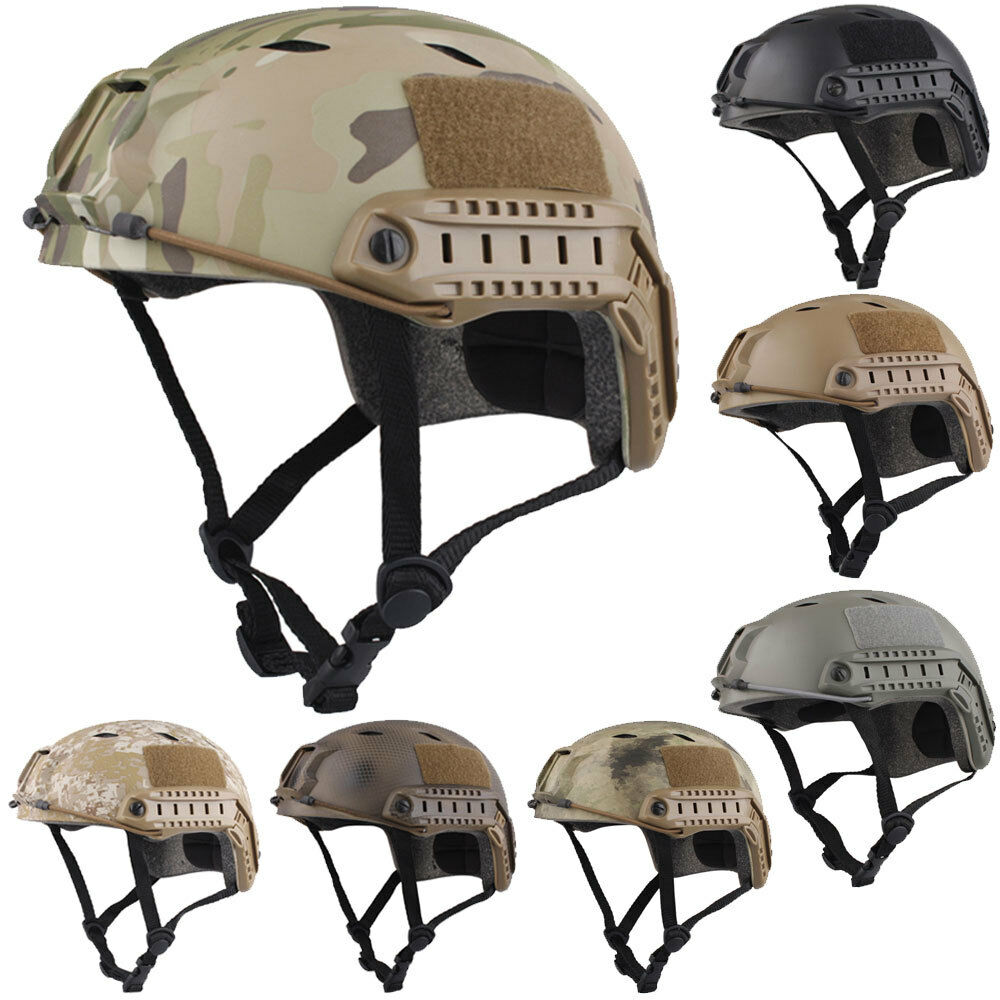 Emerson Tactical Fast Helmet  BJ Type Bump Base Jump Airsoft Military Bike Helmet  various sizes