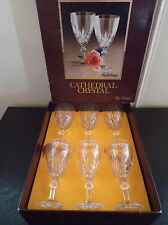 Gorgeous Sherry/Port Italian Cathedra Crystal Glasses By Dema - Set of 6 in box