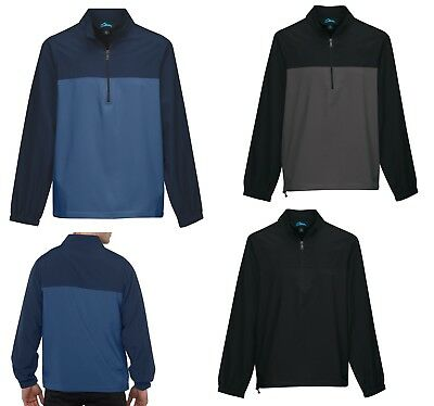 Water Repellant S-4xl Rich And Magnificent Men's 1/2 Zip Windbreaker Pullover Pockets Windshirt