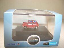 Oxford NMN001 MN001 N Gauge 1/148 Scale Austin Morris Mini Tartan Red Union Jack