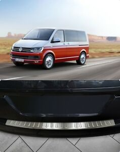 VW-T6-Transporter-Caravelle-Multivan-Chrome-Rear-Bumper-Protector-Guard-S-Steel