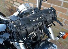 MOTORCYCLE TOOL ROLL LEATHER SADDLE BAG TRIUMPH ROCKET THUNDERBIRD (C1CS)