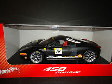 Hot Wheels Ferrari 458 Italia Challenge #12 Matt Black 1/18