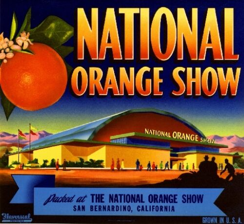 San Bernardino National Orange Show Citrus Fruit Crate Label Art Print