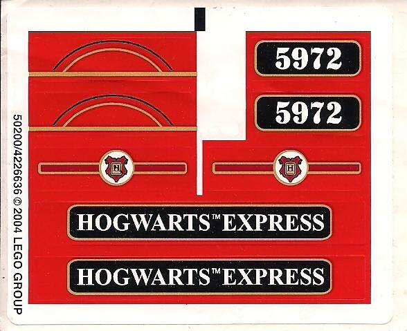 Lego 4758-Harry Potter-Hogwarts  Express (2nd edition) - Feuille Autocollant  trouvez votre favori ici