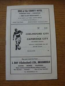 11091967 Chelmsford City v Cambridge City - Birmingham, United Kingdom - Returns accepted within 30 days after the item is delivered, if goods not as described. Buyer assumes responibilty for return proof of postage and costs. Most purchases from business sellers are protected by the Consumer Contr - Birmingham, United Kingdom