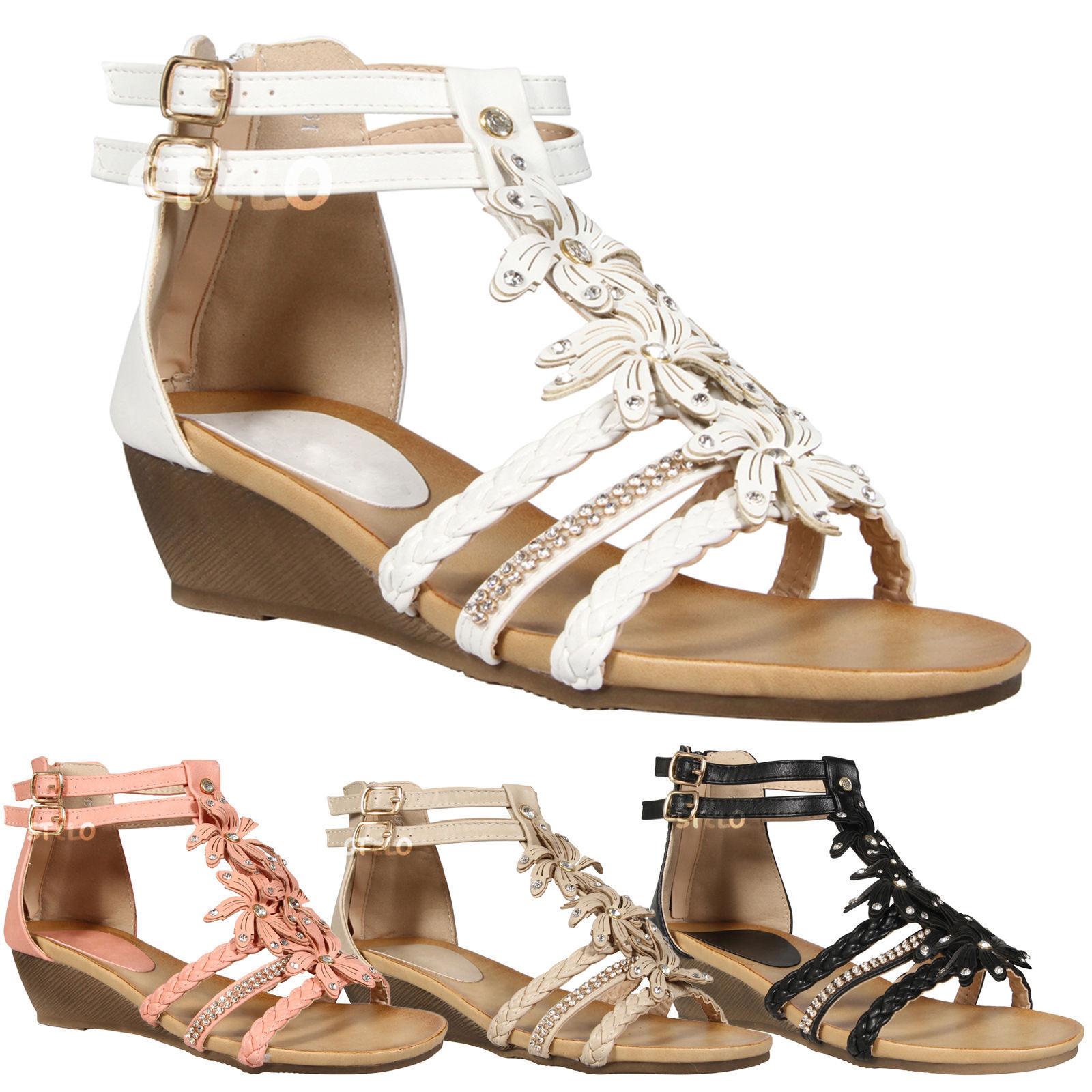 Girls Clarks Wedge Heel Summer Sandals *Harpy Myth*