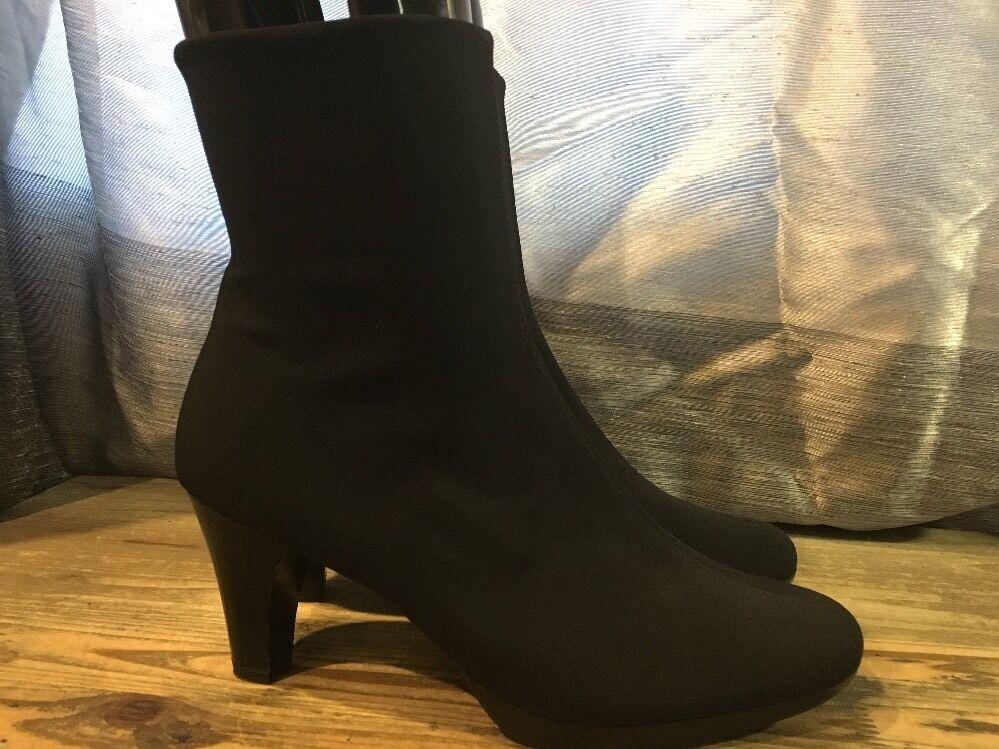 Paul verde Cuero Cuero Cuero Negro botas al Tobillo Zapatos de cremallera lateral talla US10  barato